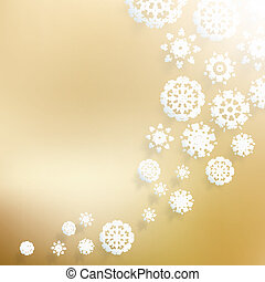 Abstract Christmas with snowflakes.