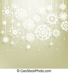 Abstract Christmas with snowflakes. EPS 10