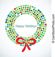 Abstract Christmas wreath - Christmas wreath with pattern