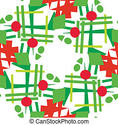 Abstract Christmas Wreaths