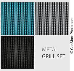 abstract chrome iron metal texture set