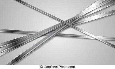 Abstract chrome metal tech video animation