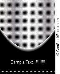 abstract, chroom, en, zwarte achtergrond