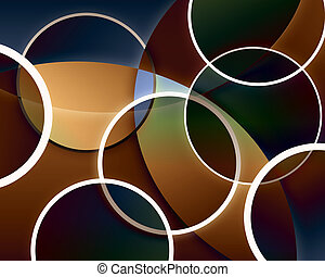 Abstract Circle Background - An abstract background with...