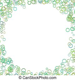 Abstract circle background - trendy vector graphic design from green rings on white background