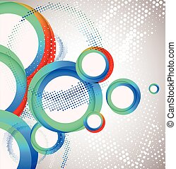 Abstract circle background. Vector