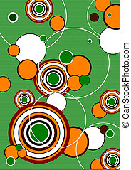 Abstract circle background, vector illustration