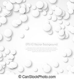 abstract circle background with drop shadows. Vector illustration
