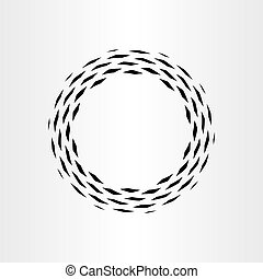 abstract circle black background icon vector rotation