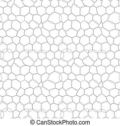 Abstract circle bubbles seamless pattern