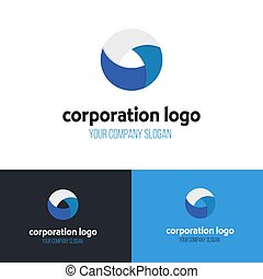 Abstract circle business logo template. Vector design.