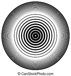 Abstract circle element. Concentric circles, ripple effect. Vector.