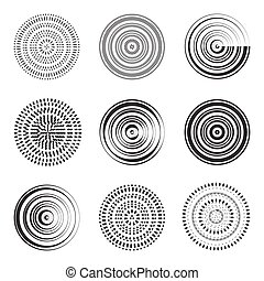 Abstract circle element. Concentric circles