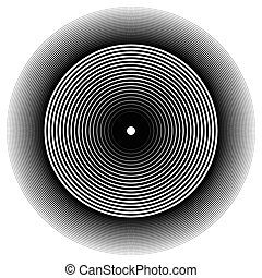 Abstract circle element. Concentric circles, ripple effect....