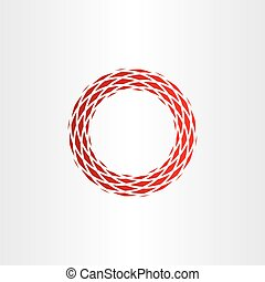 abstract circle frame red background element