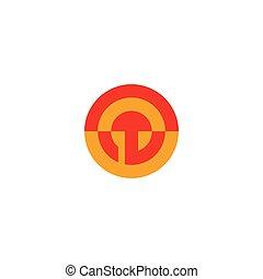 abstract circle geometric sun colorful design logo vector