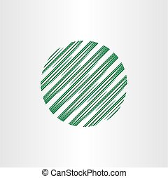 abstract circle globe logo element