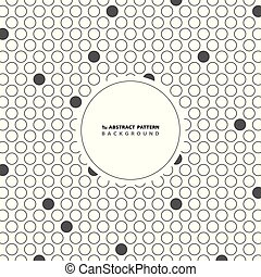 Abstract circle gray dot pattern background with copy space. You can use for cover artwork design, modern ad, poster, cover.