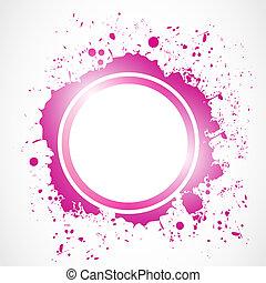 abstract circle grunge splash