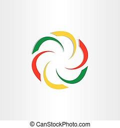 abstract circle icon design