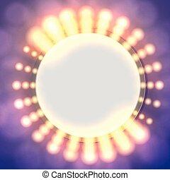 Abstract circle light banner.