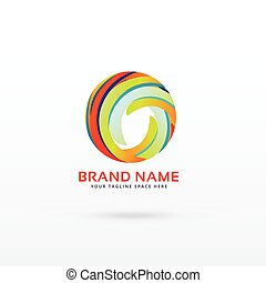 abstract circle logo design concept