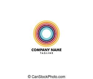 Abstract Circle Logo Design Template
