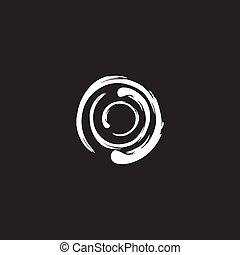 Abstract circle logo design vector template