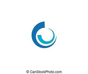 Abstract circle logo template vector design