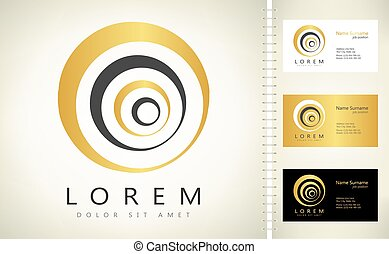 abstract circle logo vector design
