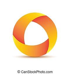Abstract circle logo. Vector illustration. Geometric round...