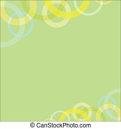 Abstract Circle loop on green soft background.