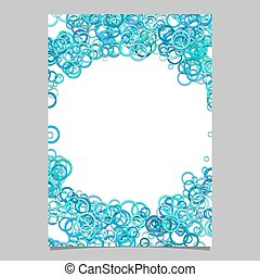 Abstract circle pattern cover template - vector page background design from rings in light blue tones