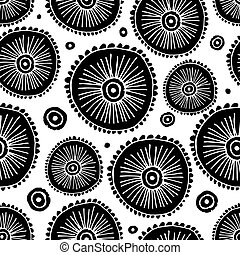 Abstract circle seamless pattern for your design