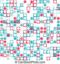 abstract circle seamless pattern with grunge effect