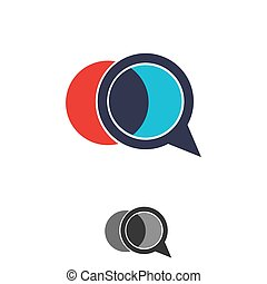 abstract circle shape with a magnifying glass