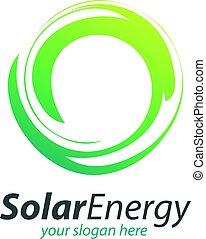 Abstract Circle Solar Technology Logo. Solar energy