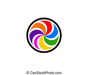 Abstract circle swirl logo design