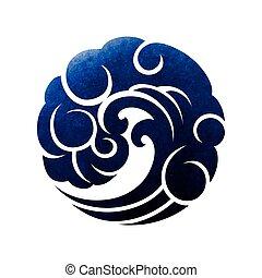 Abstract circle wave