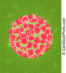 Abstract Circle with Berries