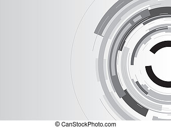 a grey abstract broken circle background