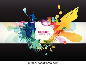abstract, circles., achtergrond kleurde