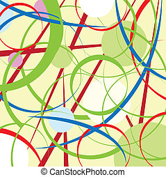 abstract circles and lines background