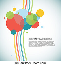 Abstract circles background with lines