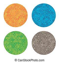 abstract circles frames set