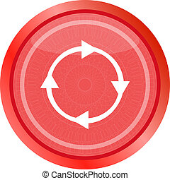 abstract circles lines arrows on web glossy icon button