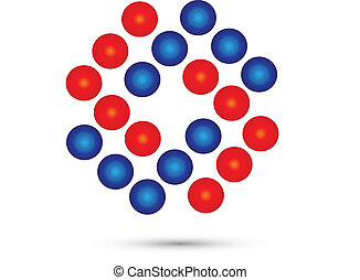 Abstract circles logo vector