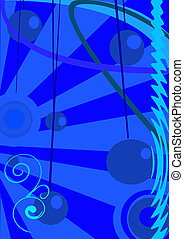 Abstract circles on a blue background