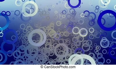 Abstract circles on blue