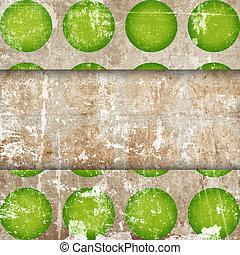 abstract circles on grunge background